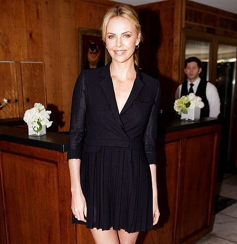 Charlize adopts a baby boy.