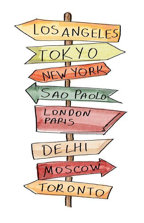 Städte, in die ich gehen möchte. obwohl ich schon ein paar #traveljournal war