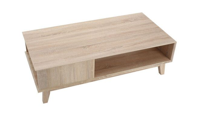 Table basse, beige 120 x 60 x 36,5 cm