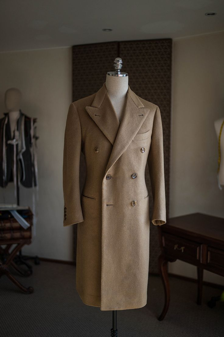 """bntailor: """" B&TAILOR camel cashmere100 double breasted ..."""