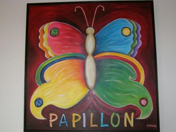 Papillon in Frankrijk incl lijst € 140
