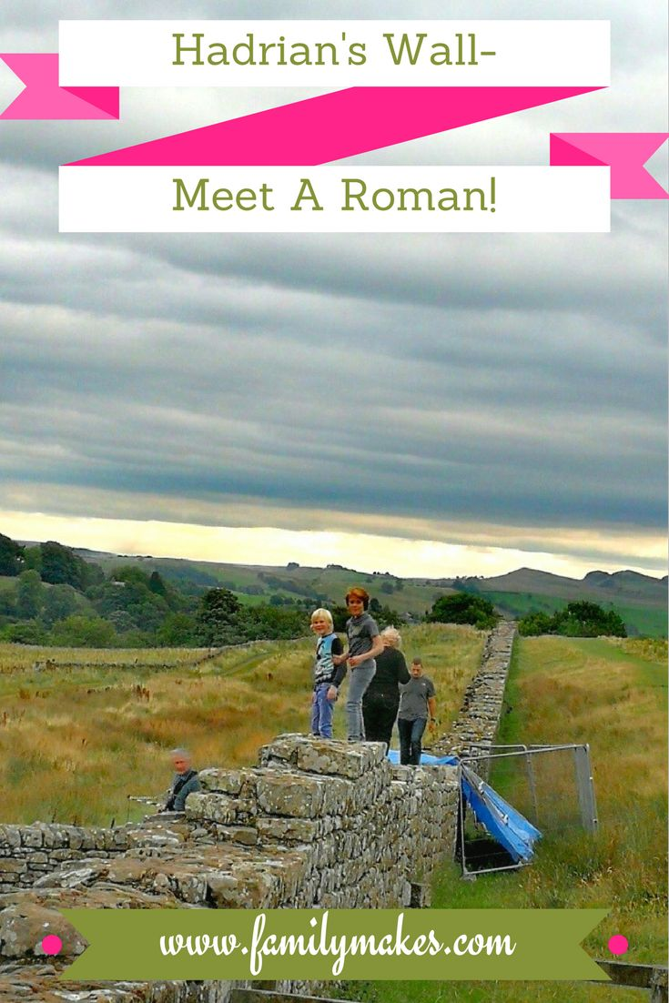 Visit Hadrian's Wall at Birdoswald - a great place to meet a RomanSoldier and learn so much about history!