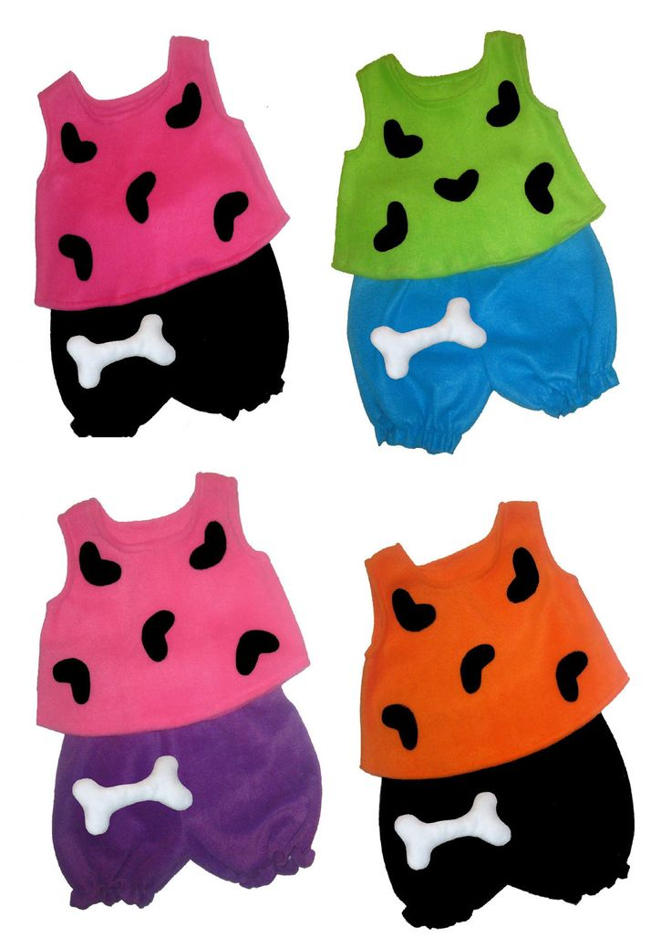 6/9m, 12/18m, 24m/2t, 3t/4t Flintstones Pebbles Halloween Costume Set Boutique PAGEANT. $36.95, via Etsy.