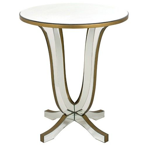 Sofia Mirrored Round Side Table - Creative Co-Op
