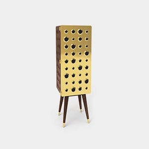 Monocles Tall Cabinet Mid Century Modern Furniture By Essential Home