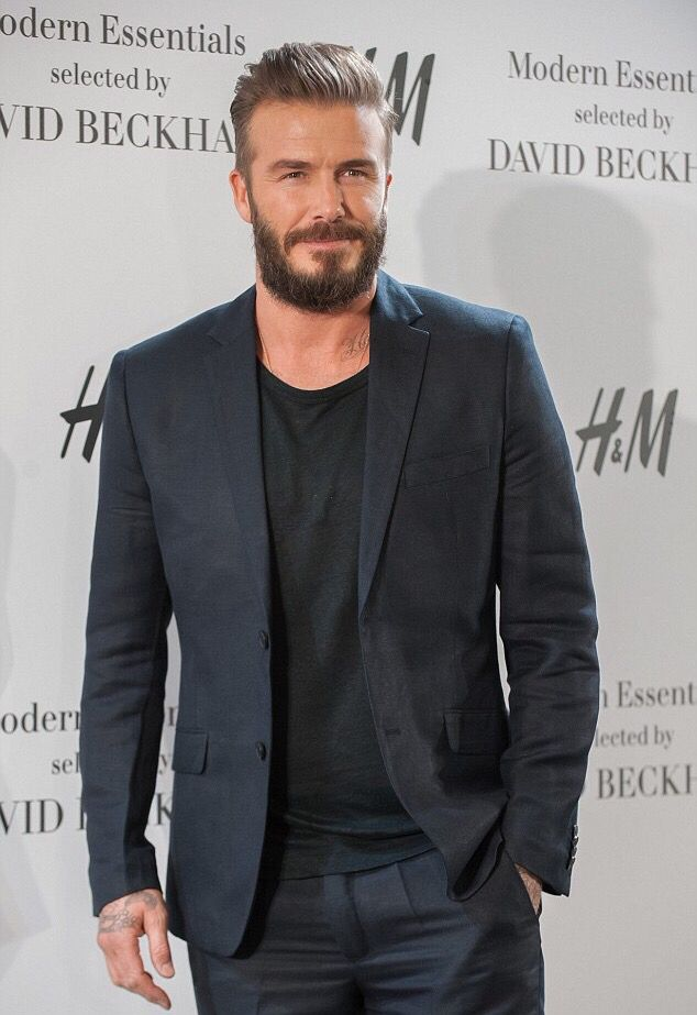David Beckham in Madrid, promoting The Modern Essentials for H&M.