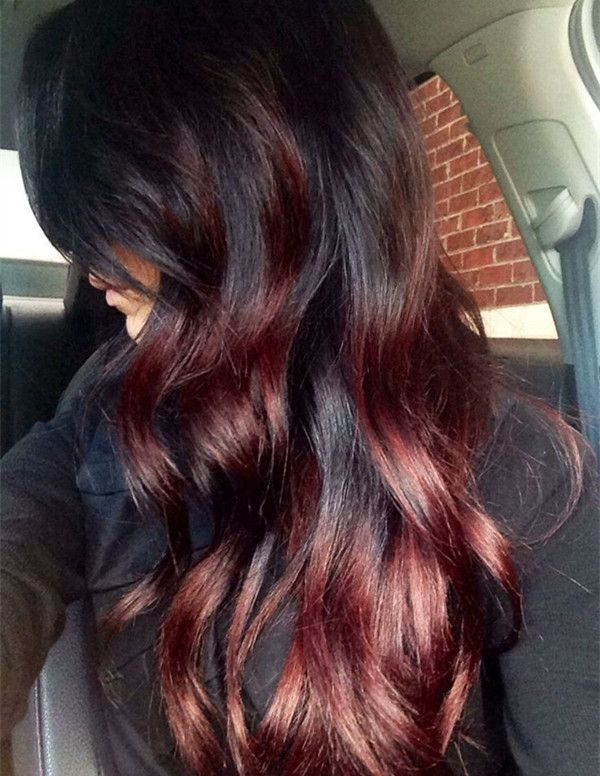 One Step to own your unique red ombre hair color