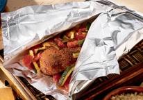 proste przepisy na mięso lub rybę z warzywami pieczone w folii