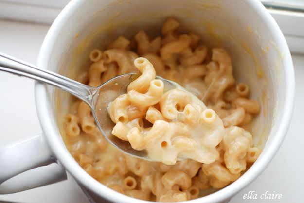 Microwave Macaroni and Cheese - I'm sure I've pinned this before, but now here's a super basic one to modify if I want to.