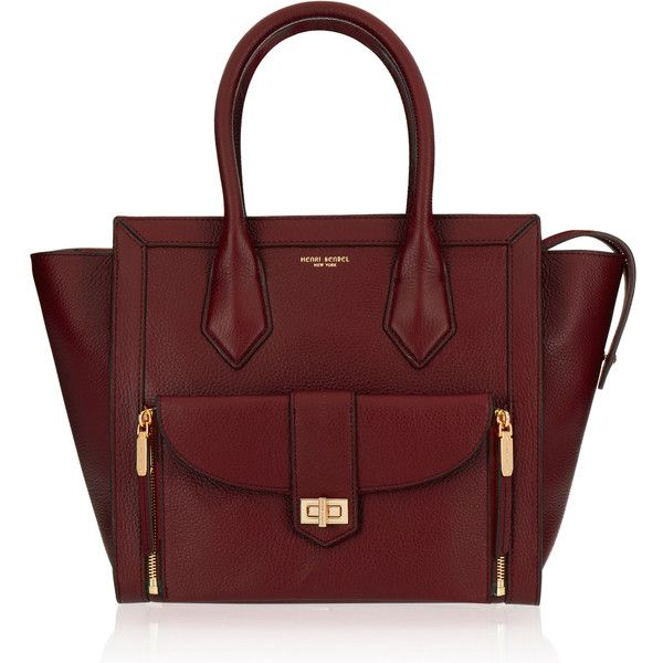 Henri Bendel Rivington Convertible Tote ($450) ❤ liked on Polyvore featuring bags, handbags, tote bags, merlot, red pouch, zip pouch, zipper tote, crossbody tote bag and convertible tote