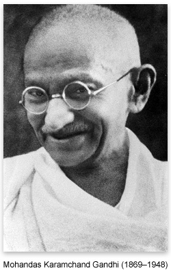 "Mohandas Karamchand Gandhi (1869-1948)  ""A society organized and run on the basis of complete nonviolence, would be the purest anarchy. … That State is perfect and non-violent where the people are governed the least."""