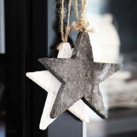Christmas | Xmas | Jul | Noël. DIY: Natural Decoration. Stars