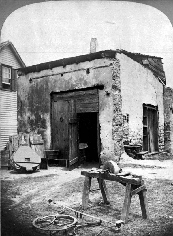Florida Memory Old Spanish Blacksmith Shop St Augustine