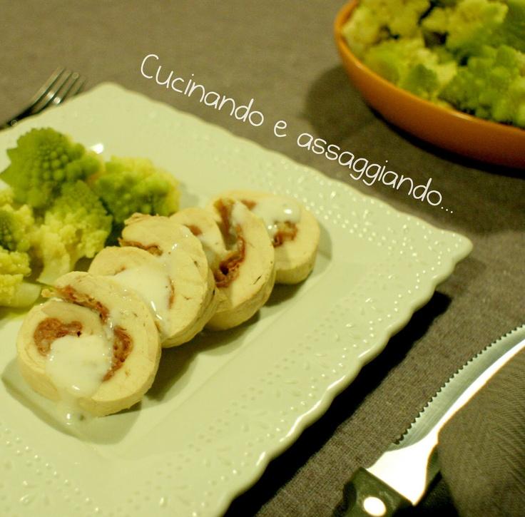 Cucinando e assaggiando...: Girelle di pollo al vapore con crudo di Parma...