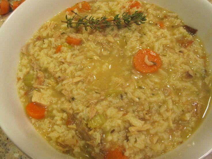 GFCFSF Turkey Rice Soup
