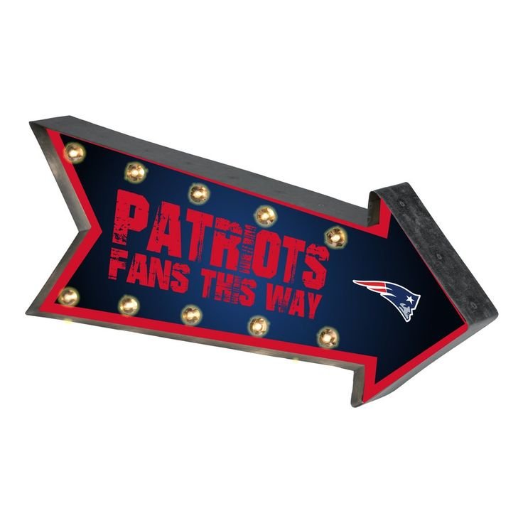 New England Patriots Sign Marquee Style Light Up Arrow Design Special Order