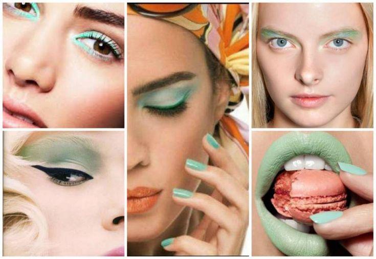 Mint makeup.