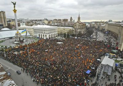 The Orange Revolution: In late 2004, hundreds of thousands of people flooded Kiev's main square to protest the results of the Ukrainian presidential election. Demonstrations continued for 12 days through sleet and snow until a revote was called, reversing the results and putting the opposition candidate (whose party colors are orange) in office instead.