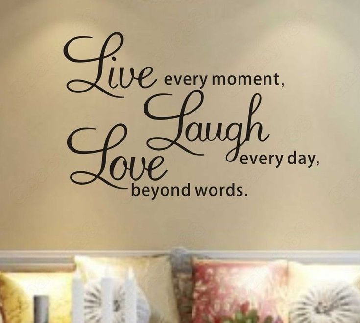 Live Laugh Love Wall Quotes Decals Removable Stickers Decor Vinyl Home ...  Iu0027 Part 75