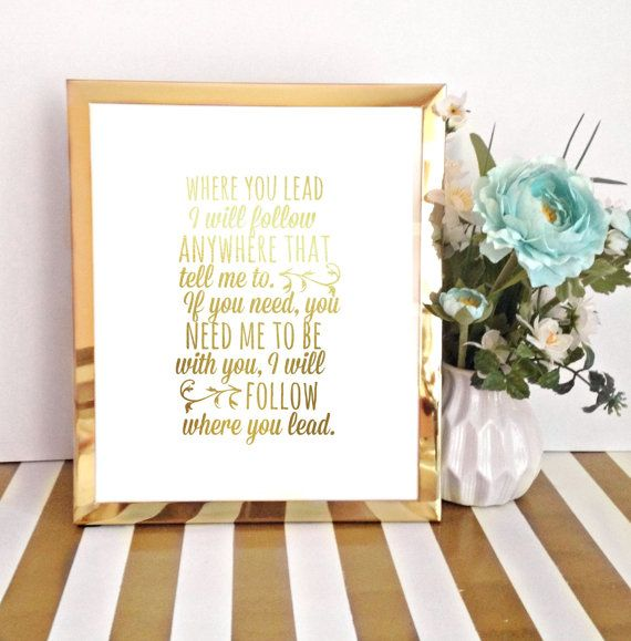 Gold Foil Print / Gilmore Girls Theme Song / Where You Lead I