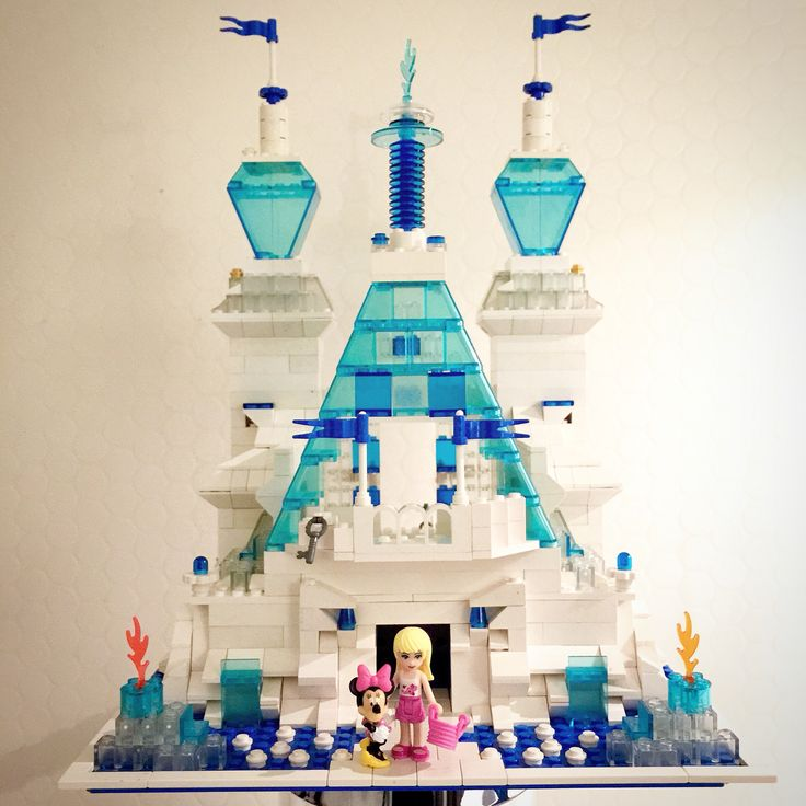 Lego, frozen castle, legobuildings