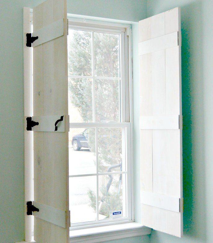 Best 25 indoor shutters ideas on pinterest indoor window shutters indoor shutters for for Black window shutters interior
