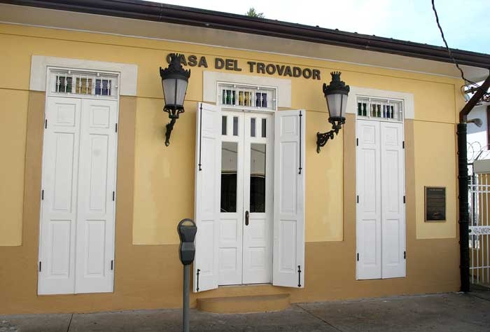 "The House of the Troubador Luis Miranda ""Pico de Oro"" at Caguas"
