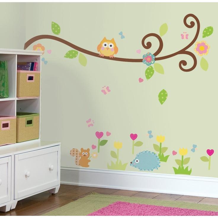 ast mit handabdruckeulen und blttern aus stoffresten projekte. Black Bedroom Furniture Sets. Home Design Ideas