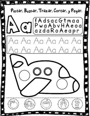El Alfabeto:  Spanish phonemic awareness worksheets from Bilingual Teacher World on TeachersNotebook.com -  (30 pages)  - Spanish Alphabet Worksheets: Cut and Paste Literacy Center.