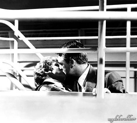 Cary Grant and Deborah Kerr....The kiss that we don't see in An Affair to Remember