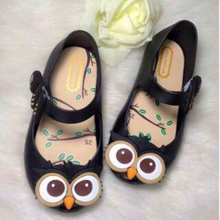 Promotion Discount 2016 New Summer Girls Mini Melissa Sandals Owl Cartoon Children Jelly Shoes Open Toe Beach Kids Sandals alishoppbrasil