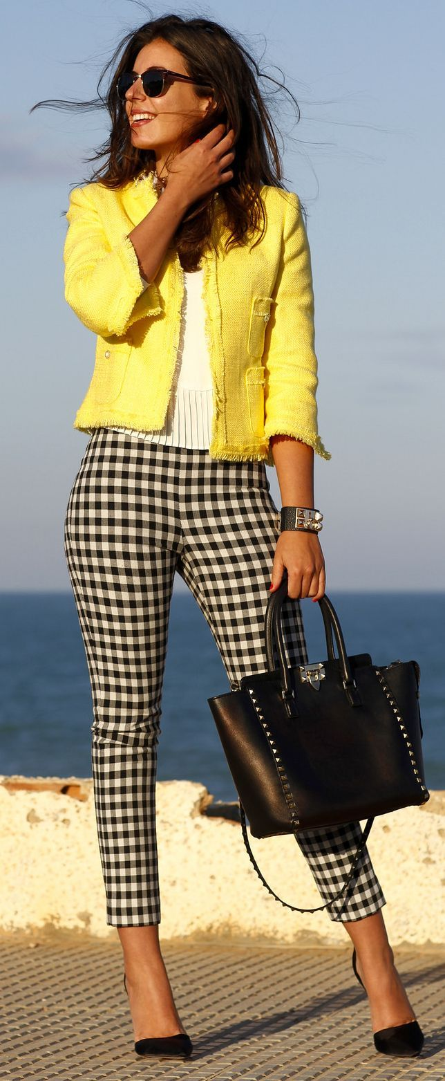Bright Yellow Tweed Jacket