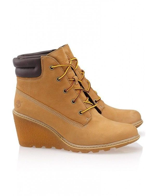 TIMBERLAND SALE Amston Wheat Nubuck Leather Wedge Lace Up Boot Ankle Bootie 7 M #Timberland #AnkleBoots