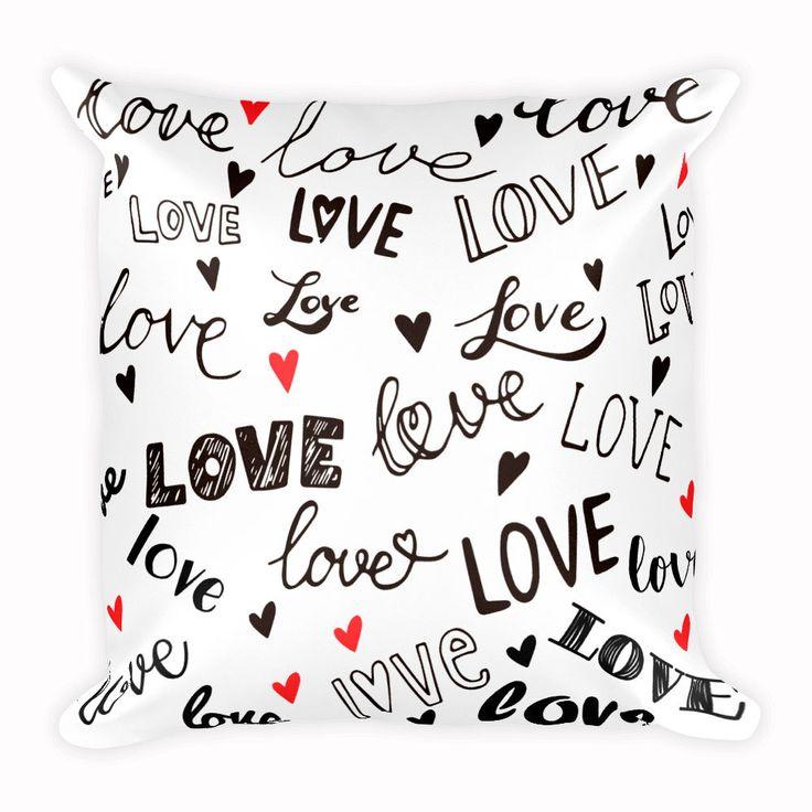Cute Love Cushion, Animal Pillow, Home Decor, 18x18 inch by CozyDesignCo on Etsy