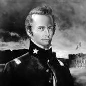 William Barret Travis was a 19th-century American lawyer and soldier. At the age of 26, he was a lieutenant colonel in the Texas Army. He died at the Battle of the Alamo during the Texas Revolution