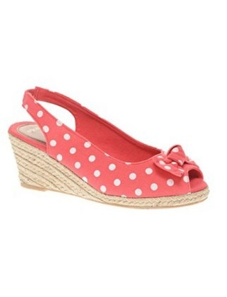 Espadrille Wedge with Slingback, $26.86: Espadrilles Wedges, Coral Dots, Hawaii Espadrilles, Polka Dots, Style, Espadril Wedges, Summer Shoes, Asos Hawaii, Dots Wedges