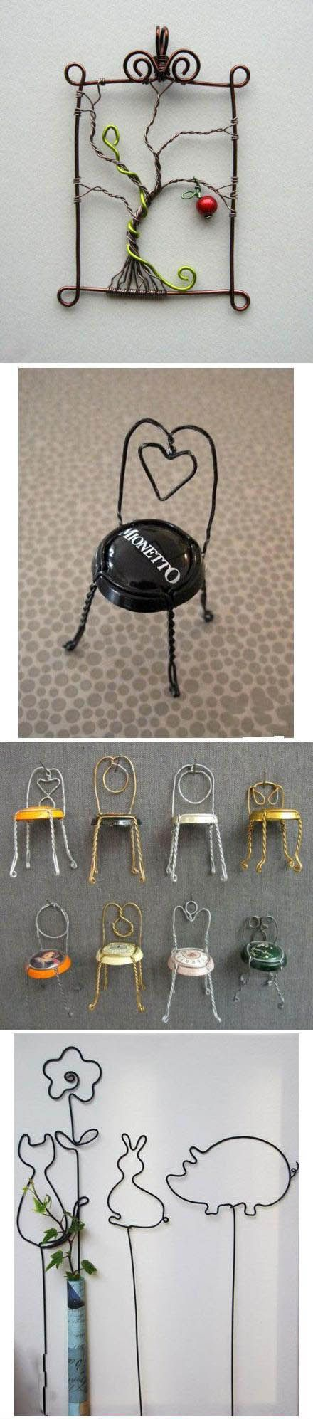 Beautiful Wire Craft   Click to see More DIY & Crafts Tutorials on Our Site.