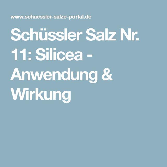 Schüssler Salz Nr. 11: Silicea - Anwendung & Wirkung
