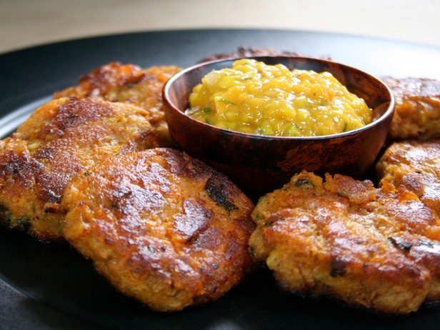 Crispy Sweet Potato Cakes from CookingChannelTV.com