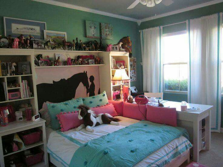 This Fun Horse Themed Bedroom Has Lots Of Storage And Would Be An Easy Look  To Transform As Her Interests And Her Style Maturity Changes.