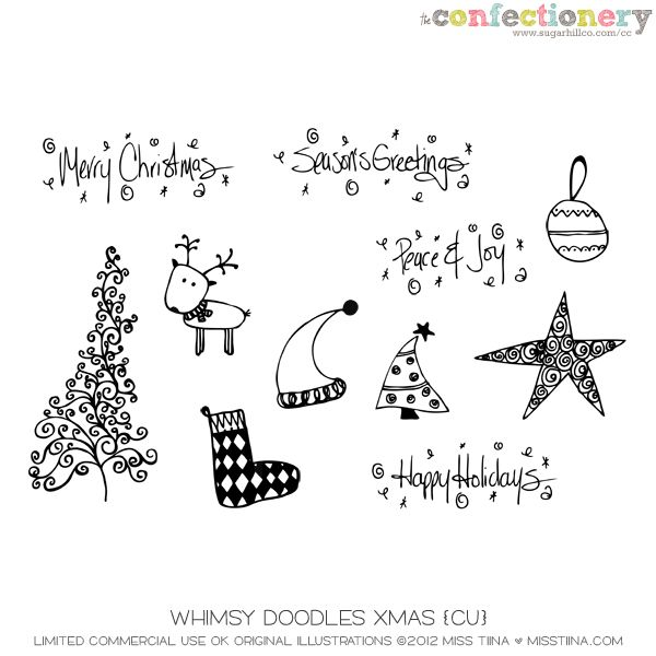 SHCO Confectionery - CU - Doodles/Brushes - Whimsy Doodles Christmas {CU} Join at http://www.sugarhillco.com/cc