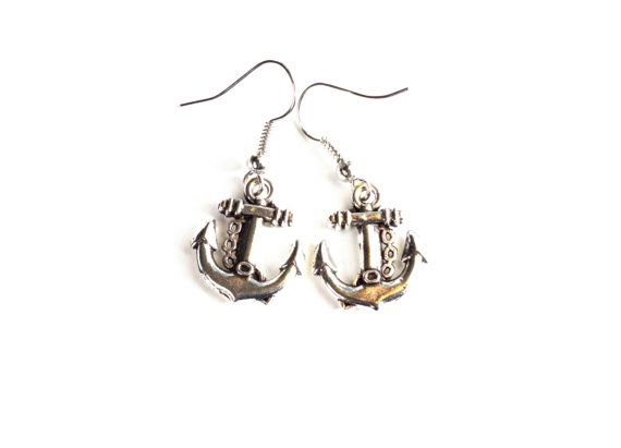 Ship Anchor Dangle Earrings/ Hypoallergenic/ Lead by BeyondtheWire