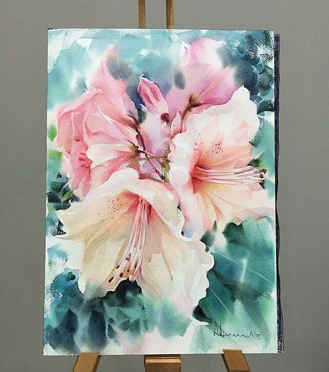 les 889 meilleures images du tableau fleurs aquarelle sur pinterest aquarelles aquarelle et. Black Bedroom Furniture Sets. Home Design Ideas