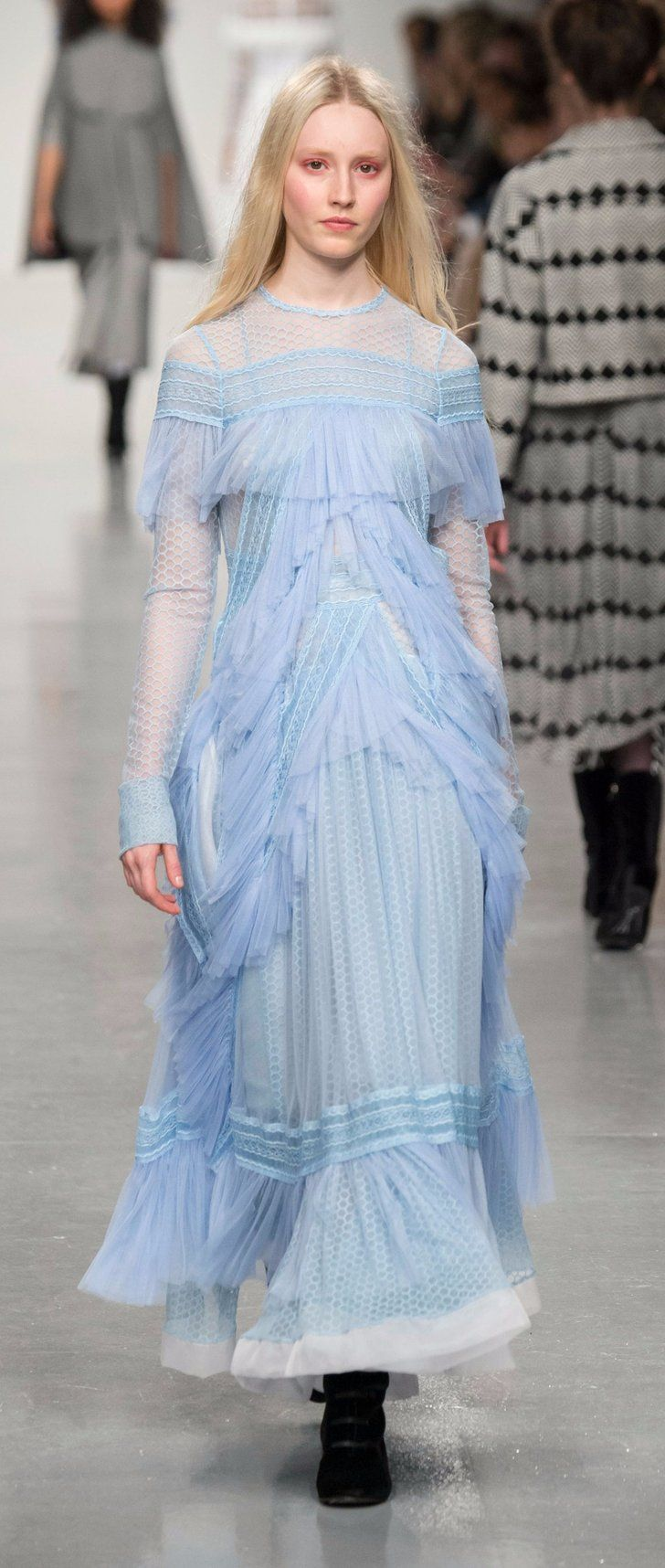 Bora Aksu's London Fashion Week Show Paid Homage to a Very Famous Suffragette
