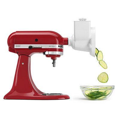 Turn the mixer into a processor for slicing and shredding. Model RVSA.