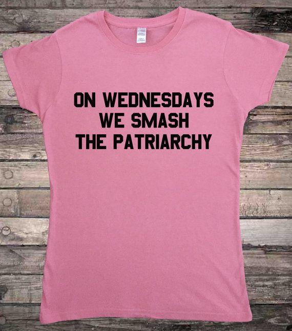 Feminist On Wednesdays We Smash The Patriarchy Feminism Ladies T-Shirt
