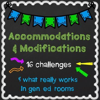 Ultimate guide to accommodations and modifications for a 504 plan or an IEP. Make informed choices for an IEP. Match the support to the need.