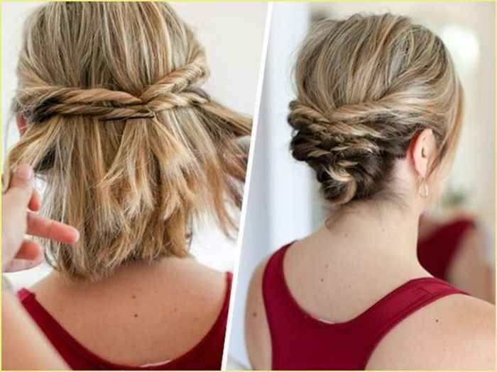 Einfach Frisuren In 2020 Short Hair Updo Thick Hair Styles Messy Hairstyles