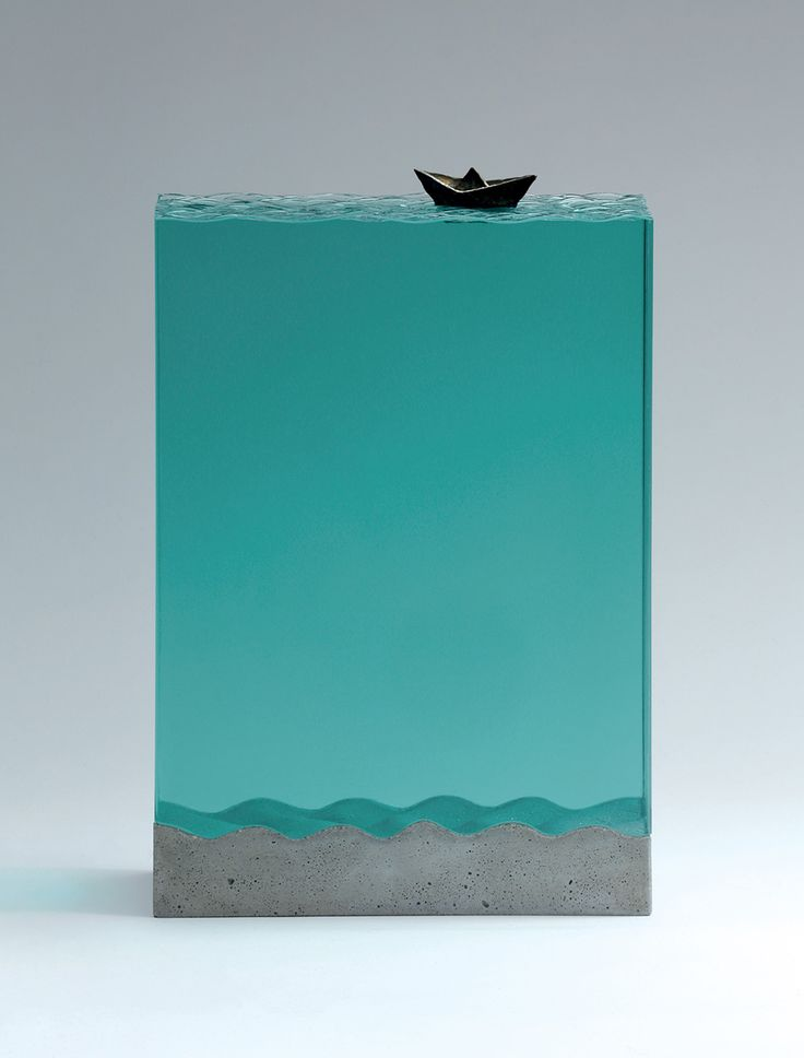 Broken Liquid: New Bodies of Water Sculpted from Layered Glass by Ben Young | Colossal