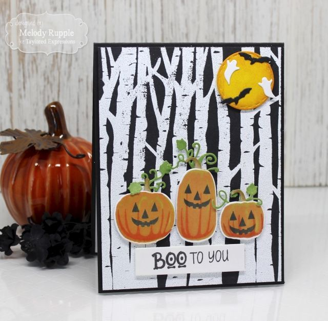 Taylored expressions boo to you by melody rupple tayloredexpressions halloween card